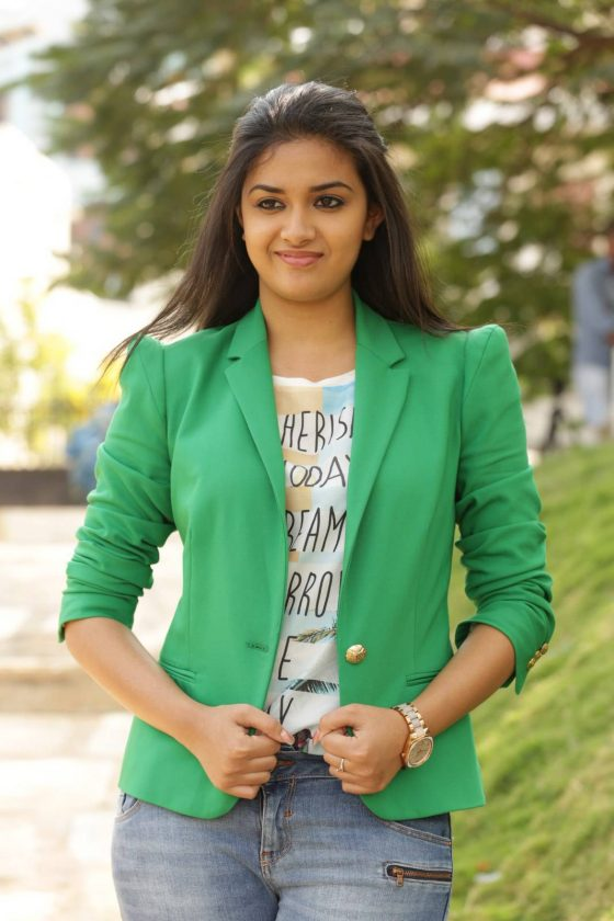 Keerthy Suresh young age career starting photo