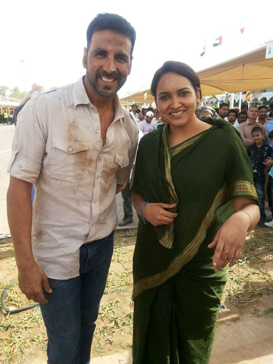 Lena (Malayalam Actress) with Akshay Kumar