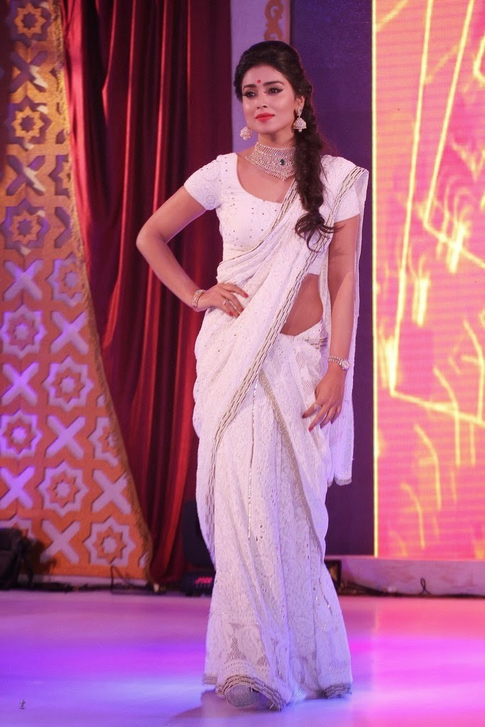 Shriya Saran in white saree