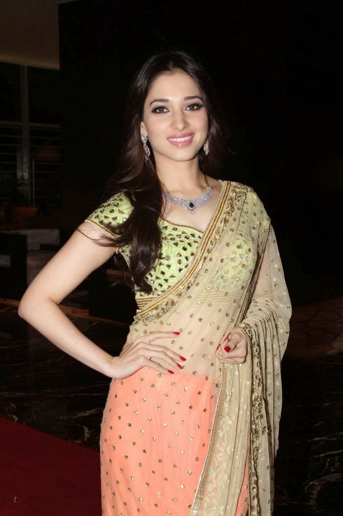 Actress Tamannaah Bhatia in half Saree