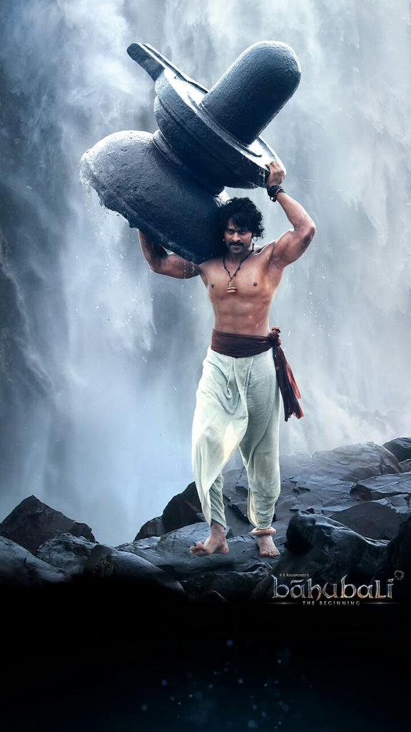 Prabhas taking siva lingam