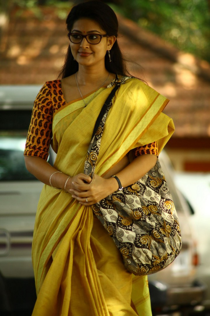 Sneha in yellow Saree Indian Actress