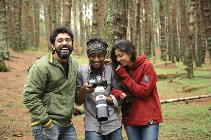 Sai Pallavi and Nivin Pauly in Premam Shooting Spot