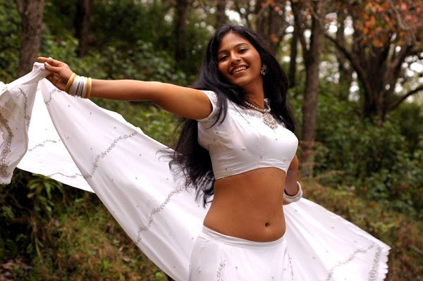 Anjali hot in white