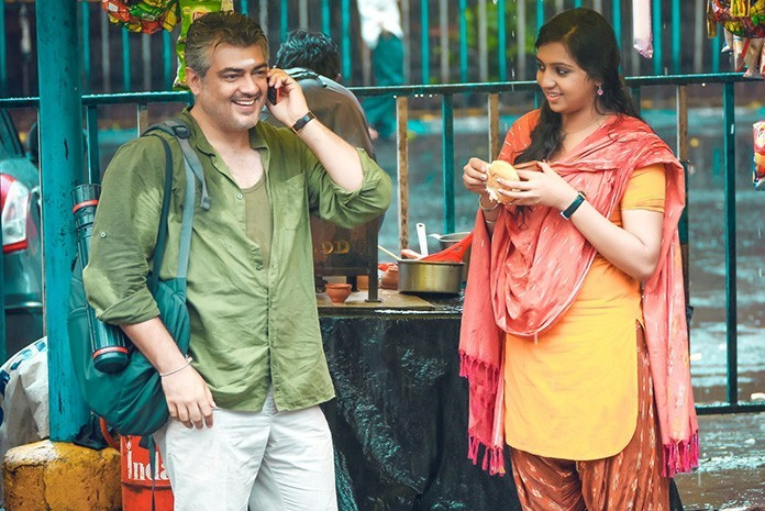 Ajith Kumar and Lakshmi Menon Vedhalam