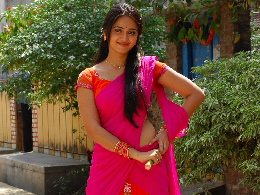 Anushka Shetty in half saree