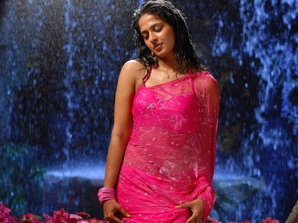 Anushka Shetty in saree hot wet