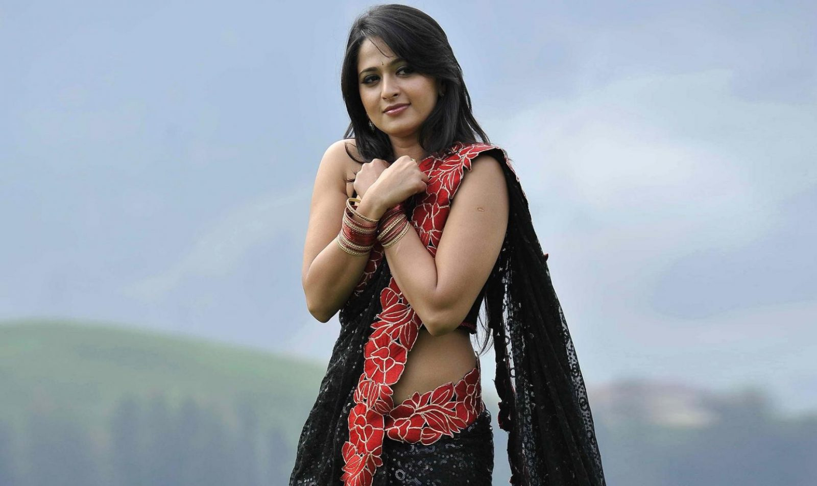 Anushka Shetty in saree song sequence