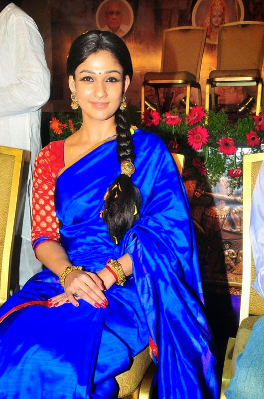 Nayanthara in traditional saree