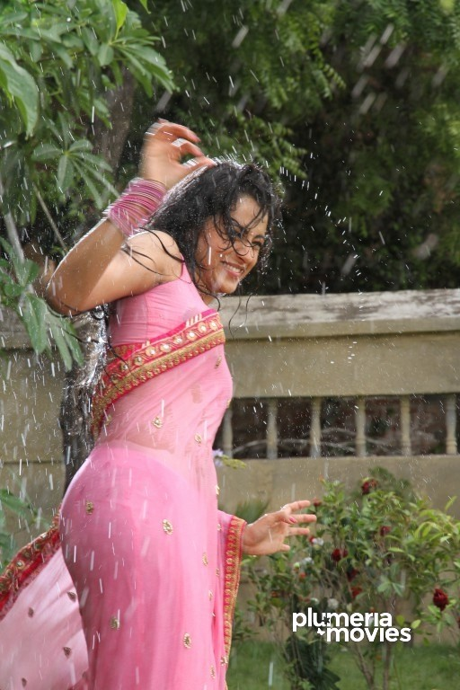 Trisha Navel Wet Saree Stills Aranmanai 2 (3)