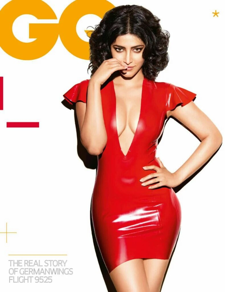 Shruti Haasan Navel Hot Photoshoot GQ 2016 (1)