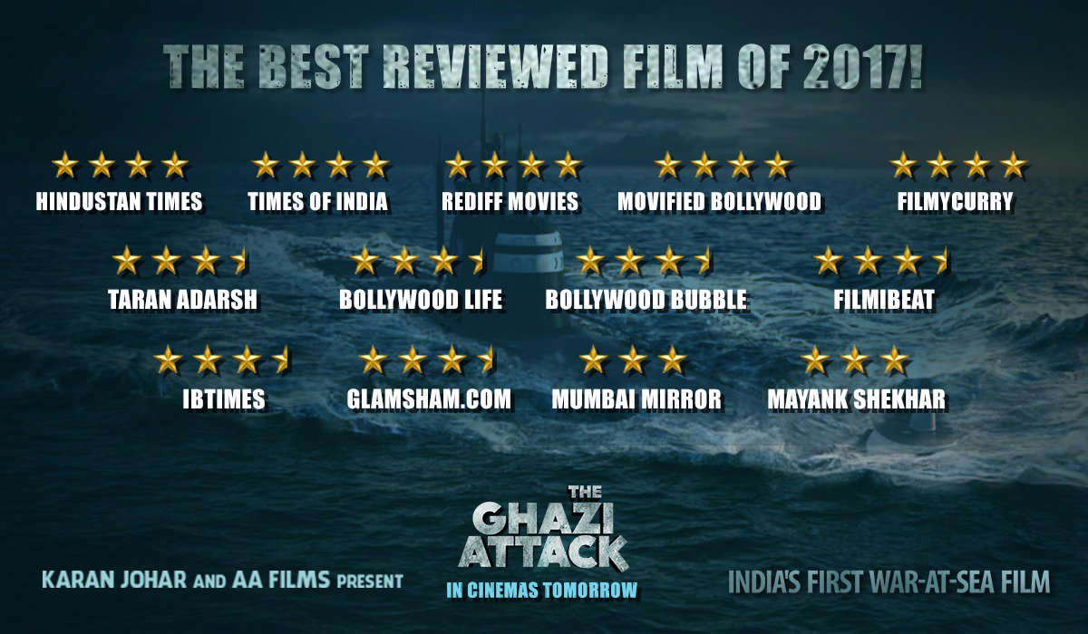 Ghazi is a movie to be proud of like Bahubali  What a stunning film