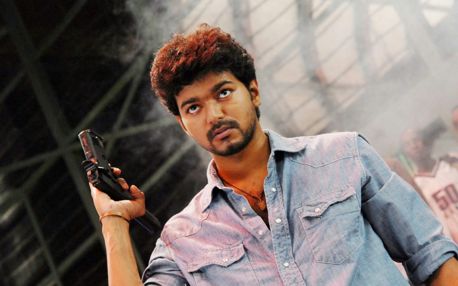 Vijay with gun