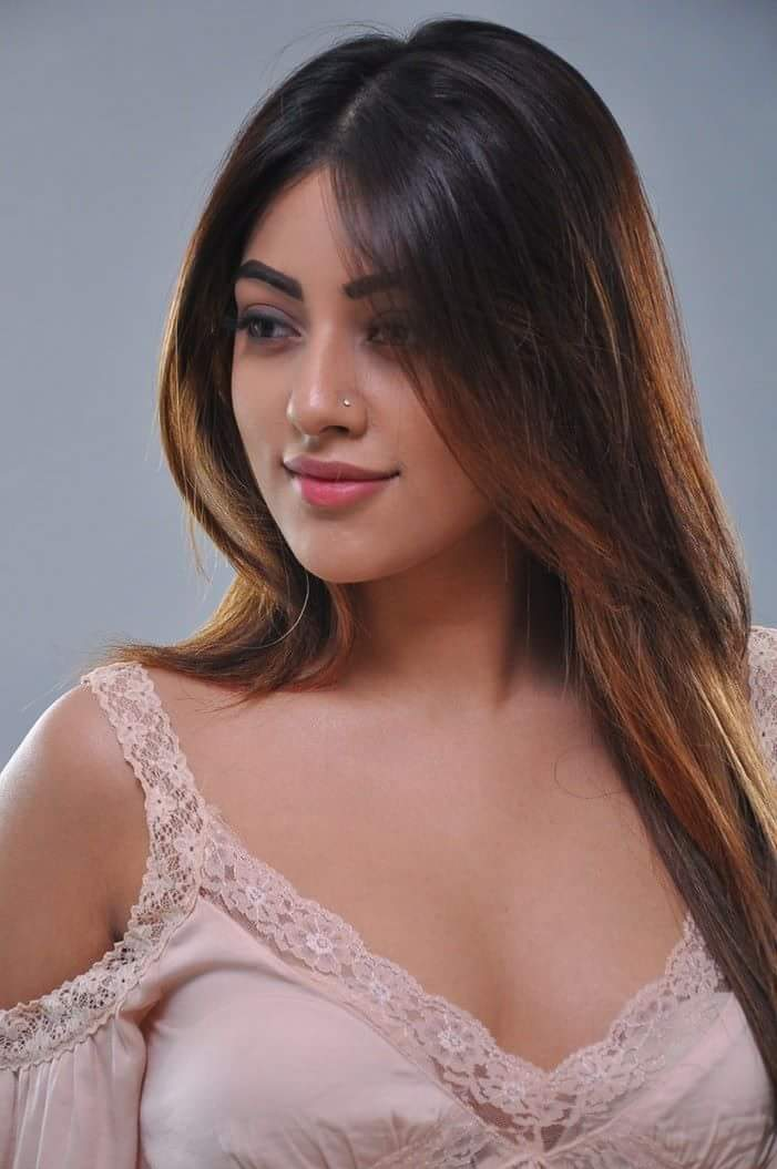 Anu Emmanuel looking hot in skin colour top.