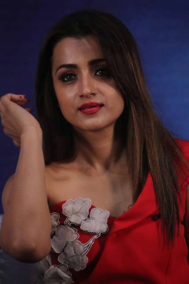 Trisha Krishna beautiful in red