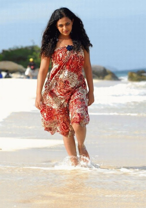 Nithya Menen Hot in Beach