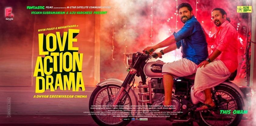 Poster of Malayalam movie Love action drama starring Nivin Pauly
