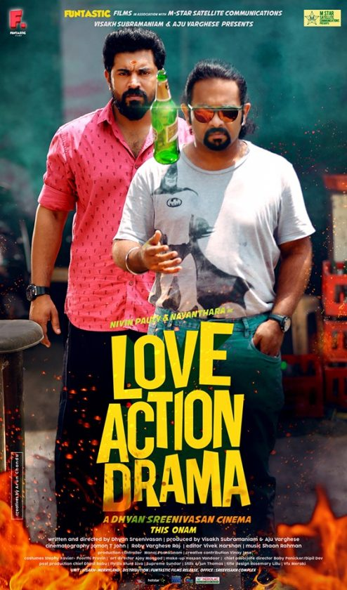 Aju Varghese with Nivin Pauly on the poster of Love Action Drama