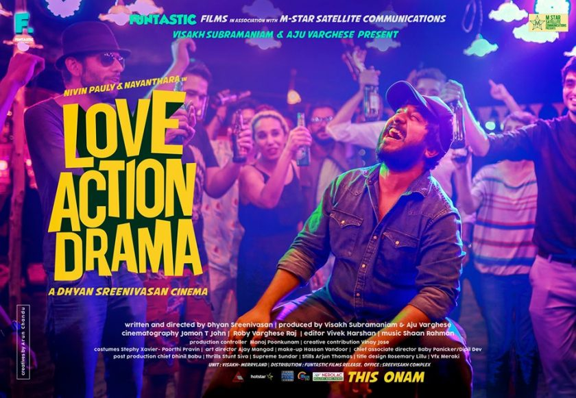 Vineeth Sreenivasan on the poster of Love Action Drama