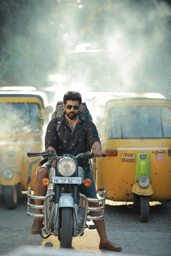 Nivin Pauly on a bike during Love Action Drama movie