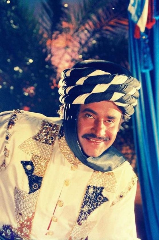Rajinikanth in king costume raja