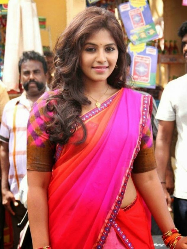 Anjali in saree real life