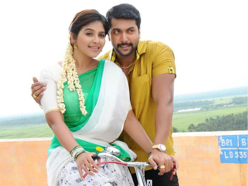 Anjali with Jayam Ravi