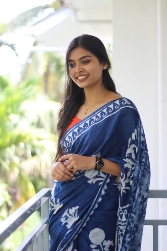 Ashna in Blue Saree