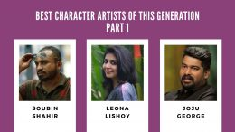 Best character artists in malayalam plumeria movies