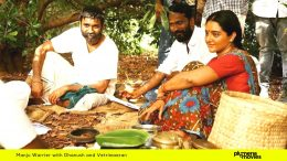 Manju Warrier in Asuran with Vetrimaran and Dhanush