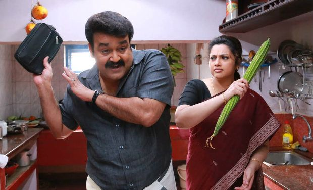 Mohanlal with Meena in Drishyam