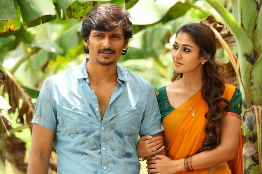 Nayanthara in half saree with Jiiva