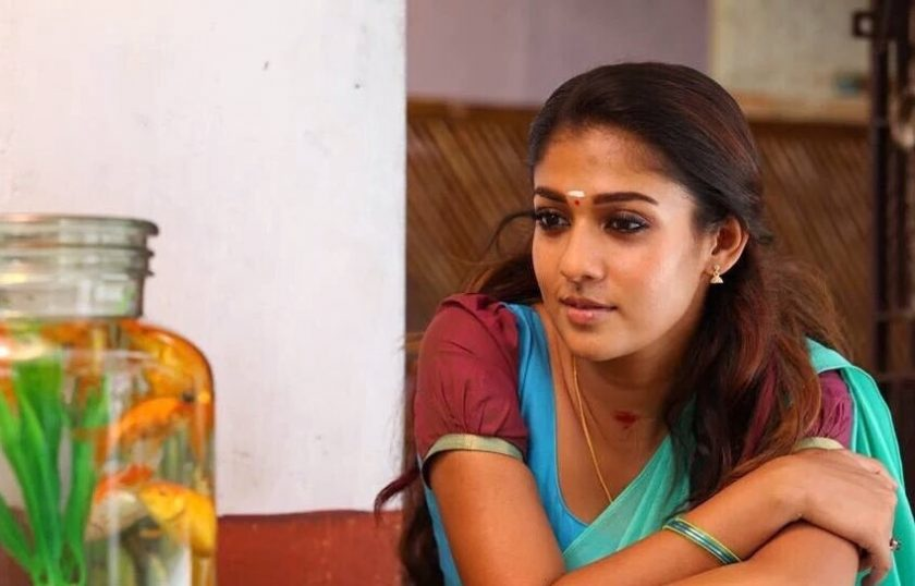Nayanthara in half saree in thirunnaal