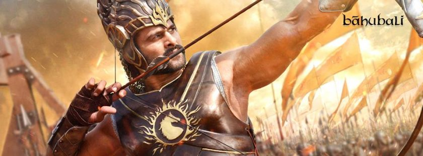 Prabhas with bow and arrow