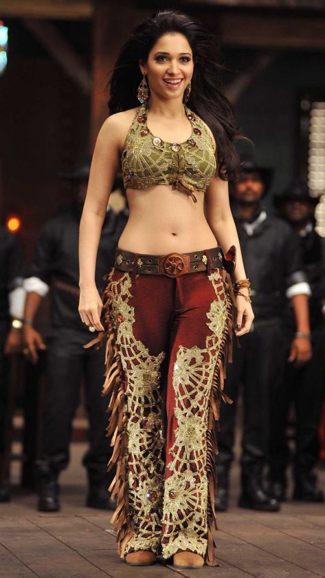 Tamannaah hot navel during a song sequence