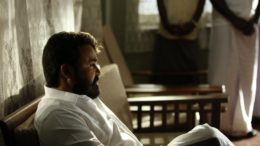 Mohanlal in Lucifer Movie Still White Shirt