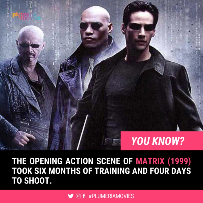 Matrix Movie Interesting Fact