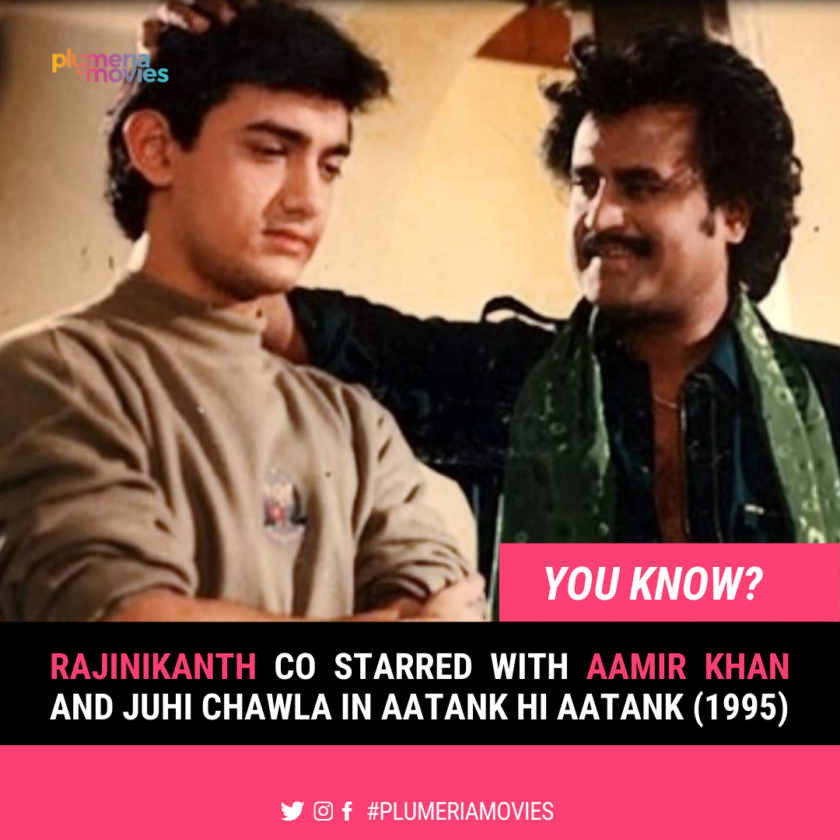 Rajinikanth with Amir Khan