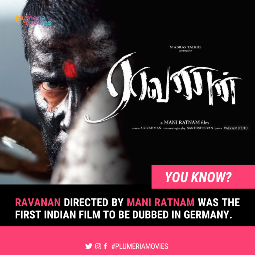 Raavanan unknown facts