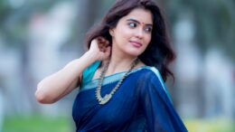 Amritha Aiyer Actress in Saree